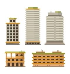 Business center buildings set vector
