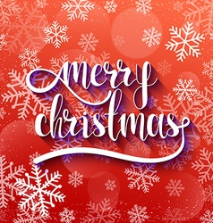 Merry christmas festive red background with vector