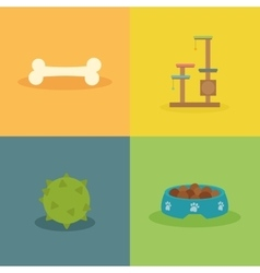 Pet shop objects vector