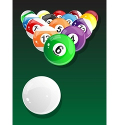 Billiard balls - pool vector