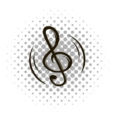 Music note sign comics icon vector
