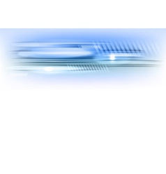 abstract shape blue horizontal vector image vector image