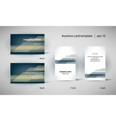 business card template set vector image