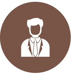 casino manager vector image vector image