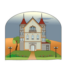 Castle in the countryside vector