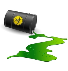 Chemical barrel vector image
