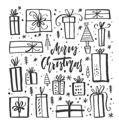 Christmas gifts clipart vector
