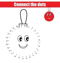 Connect the dots numbers children educational game vector