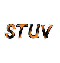 dynamic decorative font vector image