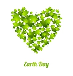 Earth Day ecology green leaves background vector image