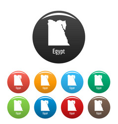 Egypt map in black set simple vector