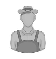 Farmer icon black monochrome style vector