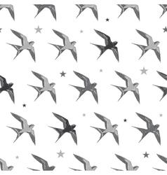 Flying martins and swallows birds diagonal vector