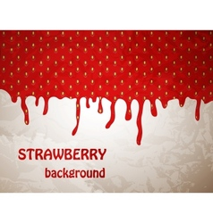 Fresh strawberry background vector