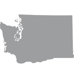 map US state of Washington vector image vector image