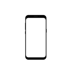 New version of smartphone with blank screen vector