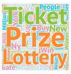 Ny lottery results text background wordcloud vector
