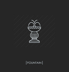 outline fountain icon isolated vector image vector image
