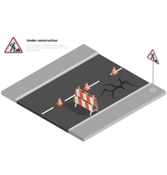 Road repair under construction road sign Repairs vector image