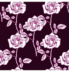 Rose sketch seamless vector