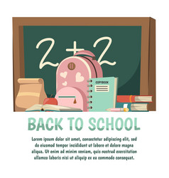 school orthogonal background vector image vector image