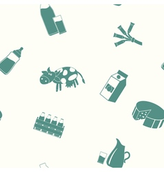 Seamless pattern with milk icons vector image