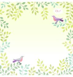 sing bird spring vector image vector image
