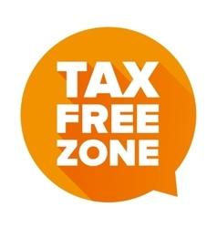 Tax free orange speech bubble vector