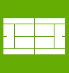 tennis court icon green vector image
