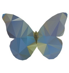Triangle butterfly vector