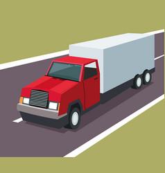 Truck garage vehicle design vector