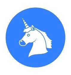 Unicorn icon black single gay icon from the big vector