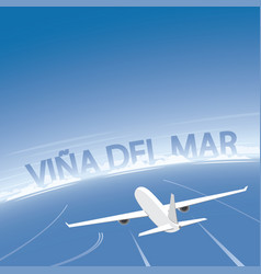 Vina del mar flight destination vector