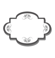 vintage frame icon vector image vector image