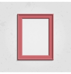 Pink modern picture frame vector