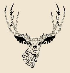 Deer head ornament vector image