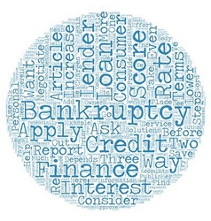 Consumer loan after bankruptcy these steps could vector