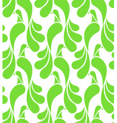 Seamless pattern made of abstract green birds vector