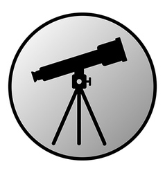 Telescope button vector