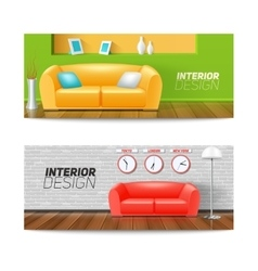 Interior banners set vector