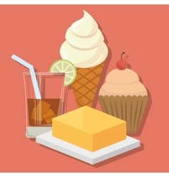 Dessert food lifestyle design vector