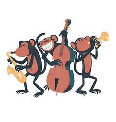 Monkey jazz trio vector