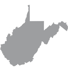 Us state of west virginia vector