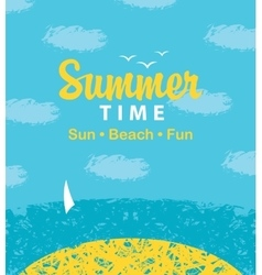 summer time to the beach vector image