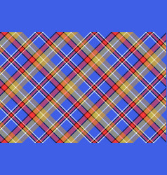Blue madras diagonal plaid pixeled seamless vector