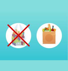 Choice between paper or cellophane bag vector