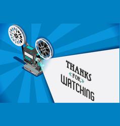 Cinema movie video clip vector