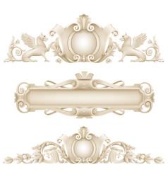 classic architectural facade decor vector image vector image
