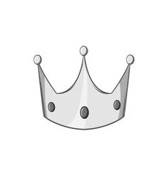 Crown icon black monochrome style vector
