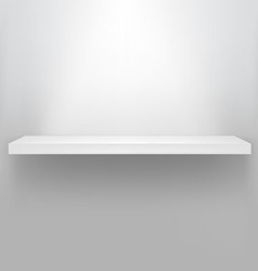 empty shelf for exhibit vector image